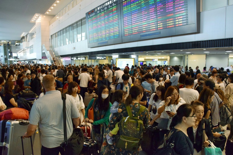 Typhoon stranded 17,000 at Tokyo airport: operator