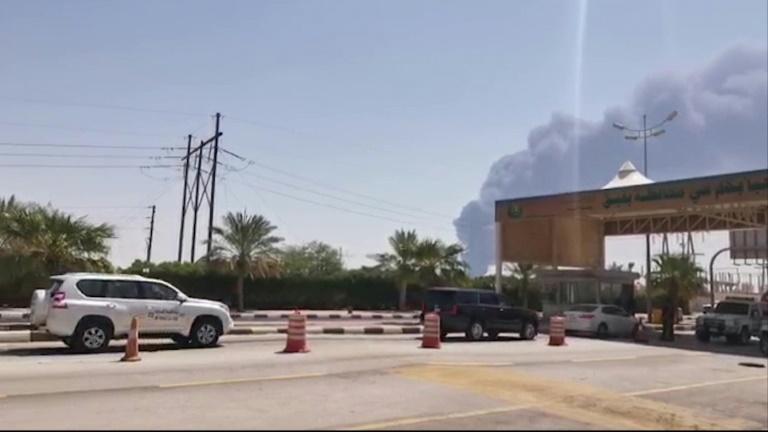 Yemeni rebel drones spark fires at two Saudi Aramco oil facilities
