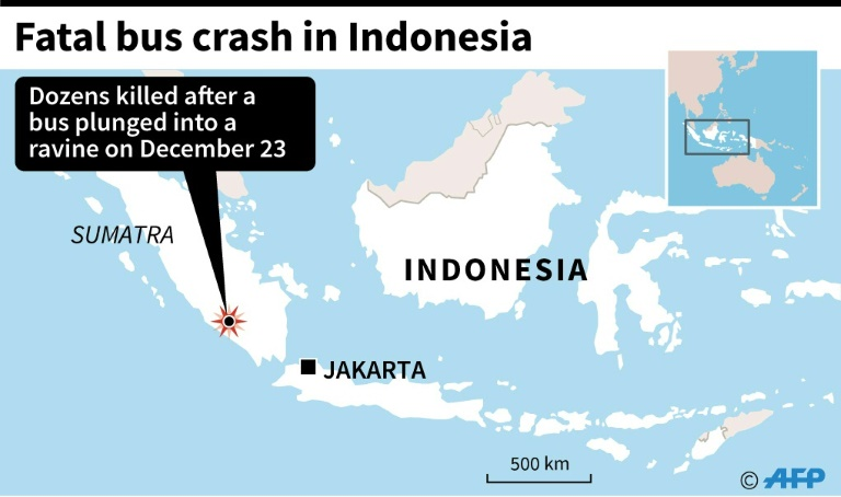 Indonesia bus crash death toll up to at least 28
