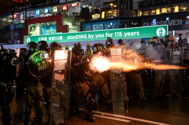 Fire, tear gas and petrol bombs as Hong Kong engulfed by chaos