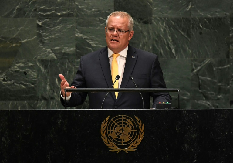Australia PM lashes climate critics in UN speech