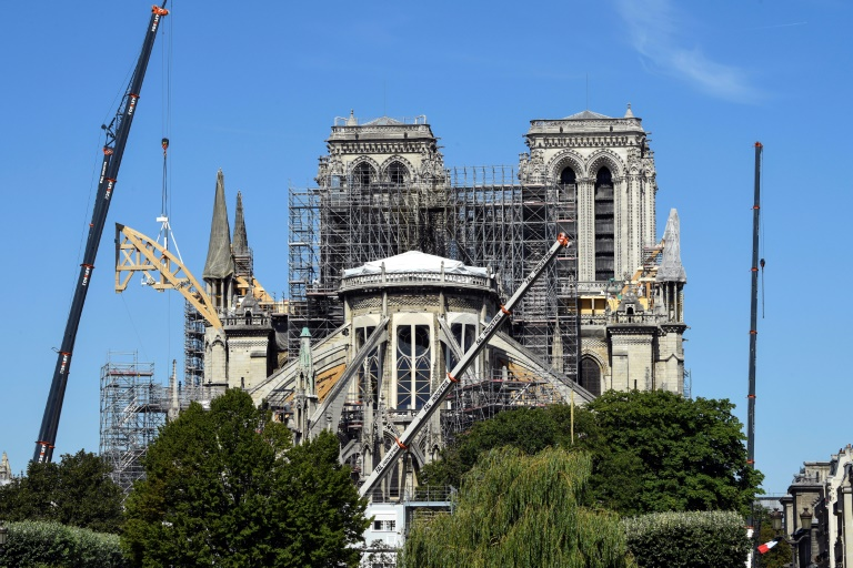 Notre-Dame cathedral still at risk of collapse after fire