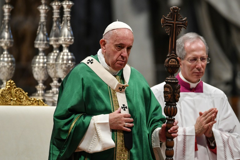 Pope demands predators stop plundering the Earth