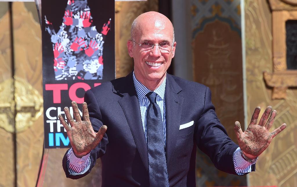 Movie mogul Jeffrey Katzenberg honored by Hollywood
