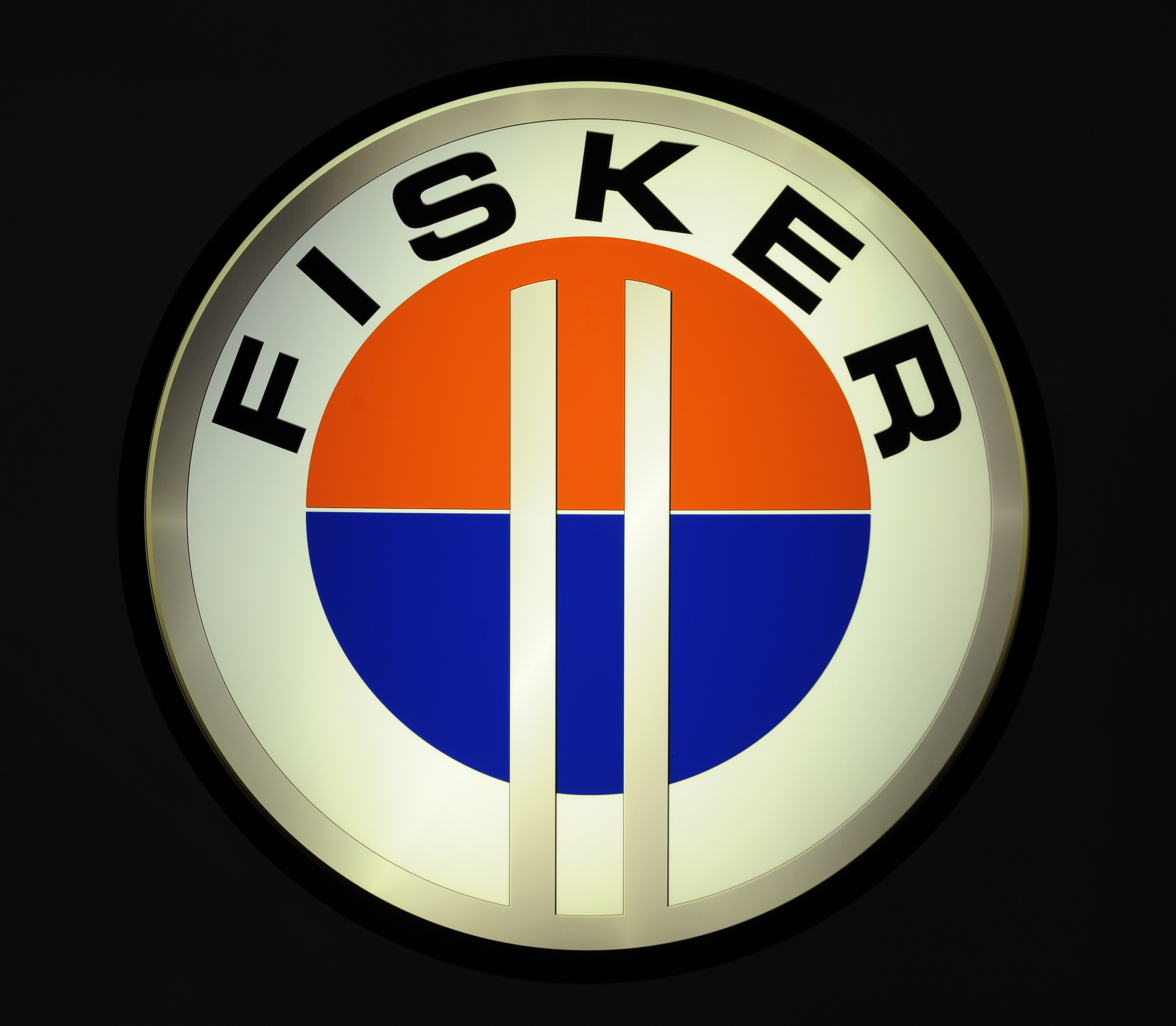 Logo of Fisker at the North American International Auto Show January 12, 2009 in Detroit, Michigan