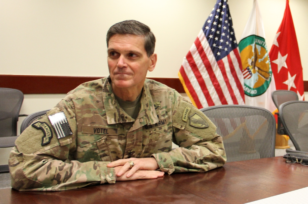 Top US commander for Mideast visits SDF in Syria