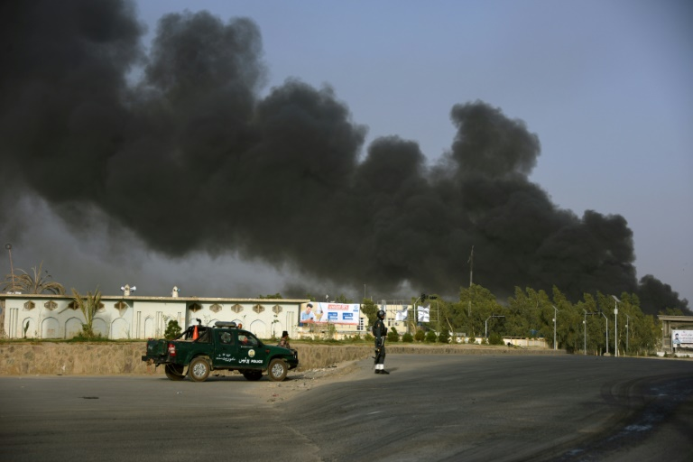At least 11 dead in Taliban attack on Afghan police HQ