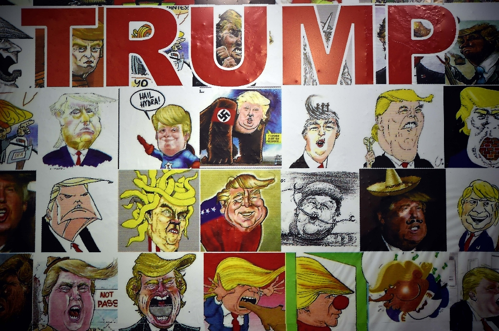 Feces, swastikas for Trump at Mexico Caricature Museum