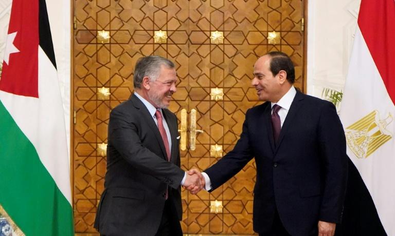 Egypt, Jordan leaders hold talks over Israeli-Palestinian peace
