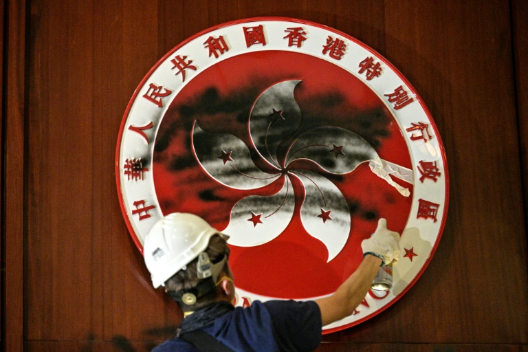 Protesters ransack Hong Kong parliament on China handover anniversary