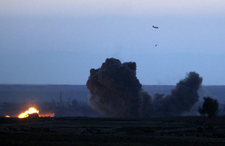 Coalition says strike kills 5 IS jihadists in Syria