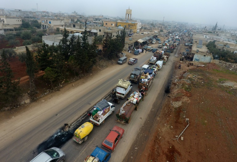 More than 235,000 flee intense bombing in NW Syria