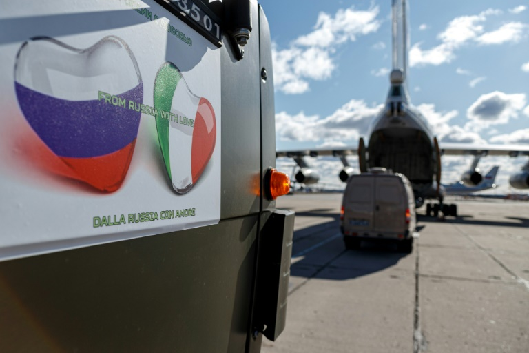 Flying aid to virus-hit Italy, Moscow flexes soft power