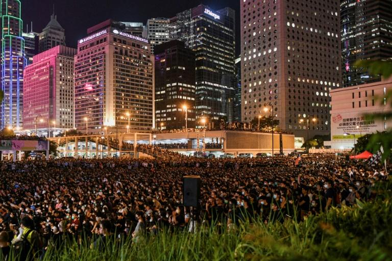 Hong Kongers kick off days of rallies ahead of Chinas birthday