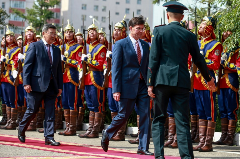 Pentagon chief makes rare visit to Mongolia