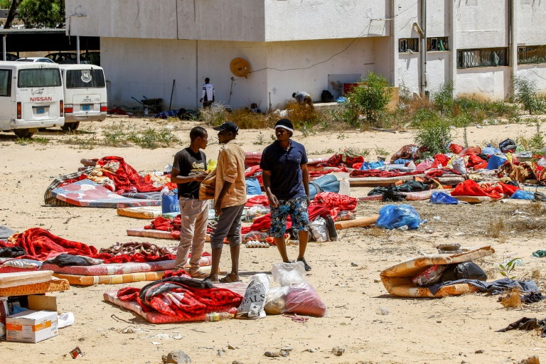 Migrants still detained at site of deadly Libyan air strike