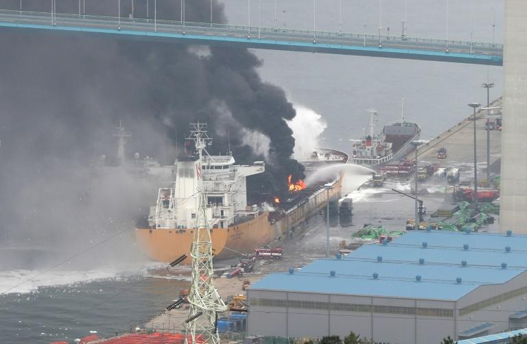 Huge tanker blast sparks fire injuring 18 in South Korea