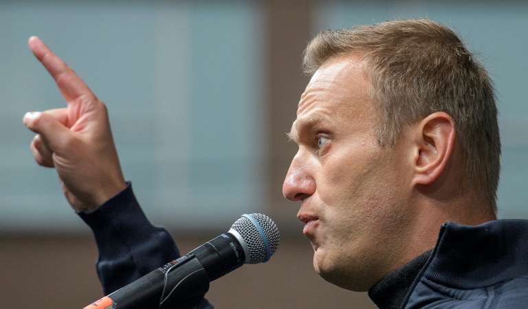 Russian opposition leader Navalny detained
