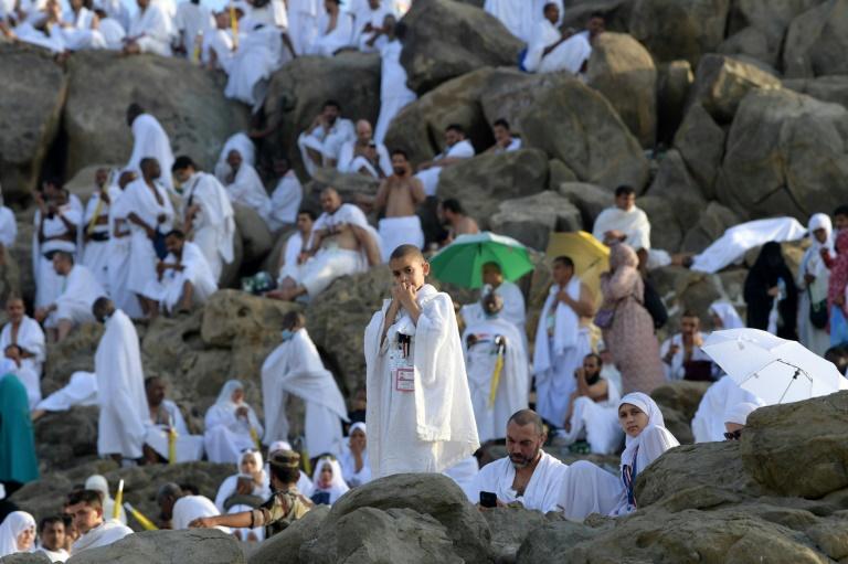 Some 2.5 million Muslim hajj pilgrims scale Mount Arafat