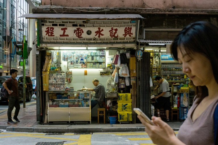 Hong Kong protest shoppers show their true colours