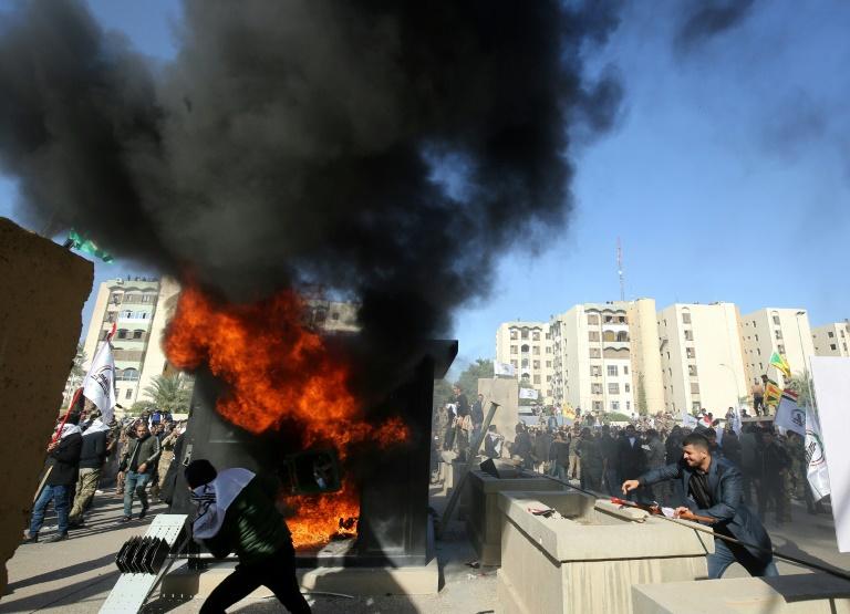 Trump threatens Iran after Baghdad embassy attacked