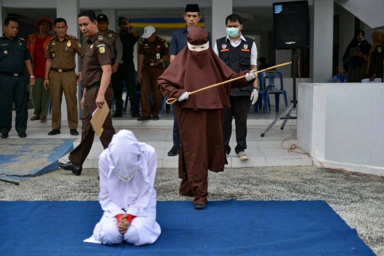 Indonesias Aceh unveils new female flogging squad