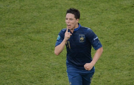 Nasri wanted to silence critics with his tying goal. (AFP)
