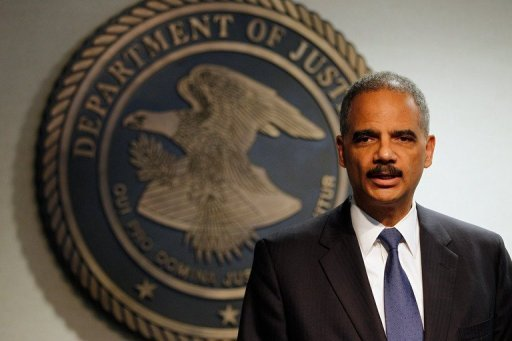 (AFP Photo/Chris Graythen) Attorney General Eric Holder addresses the media following a vote in the House of Representatives to hold him in criminal contempt.