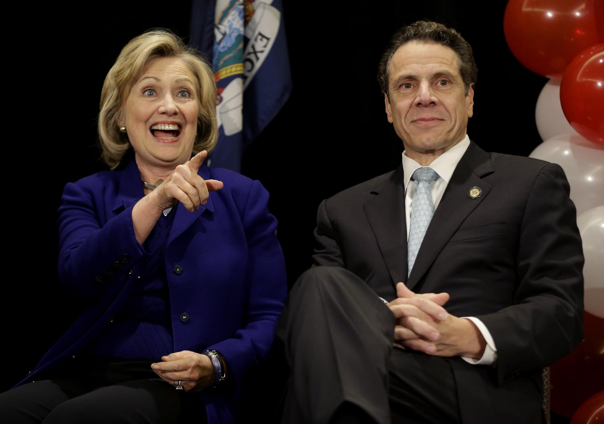 Clinton backs Gov. Cuomo; GOP foe claims momentum