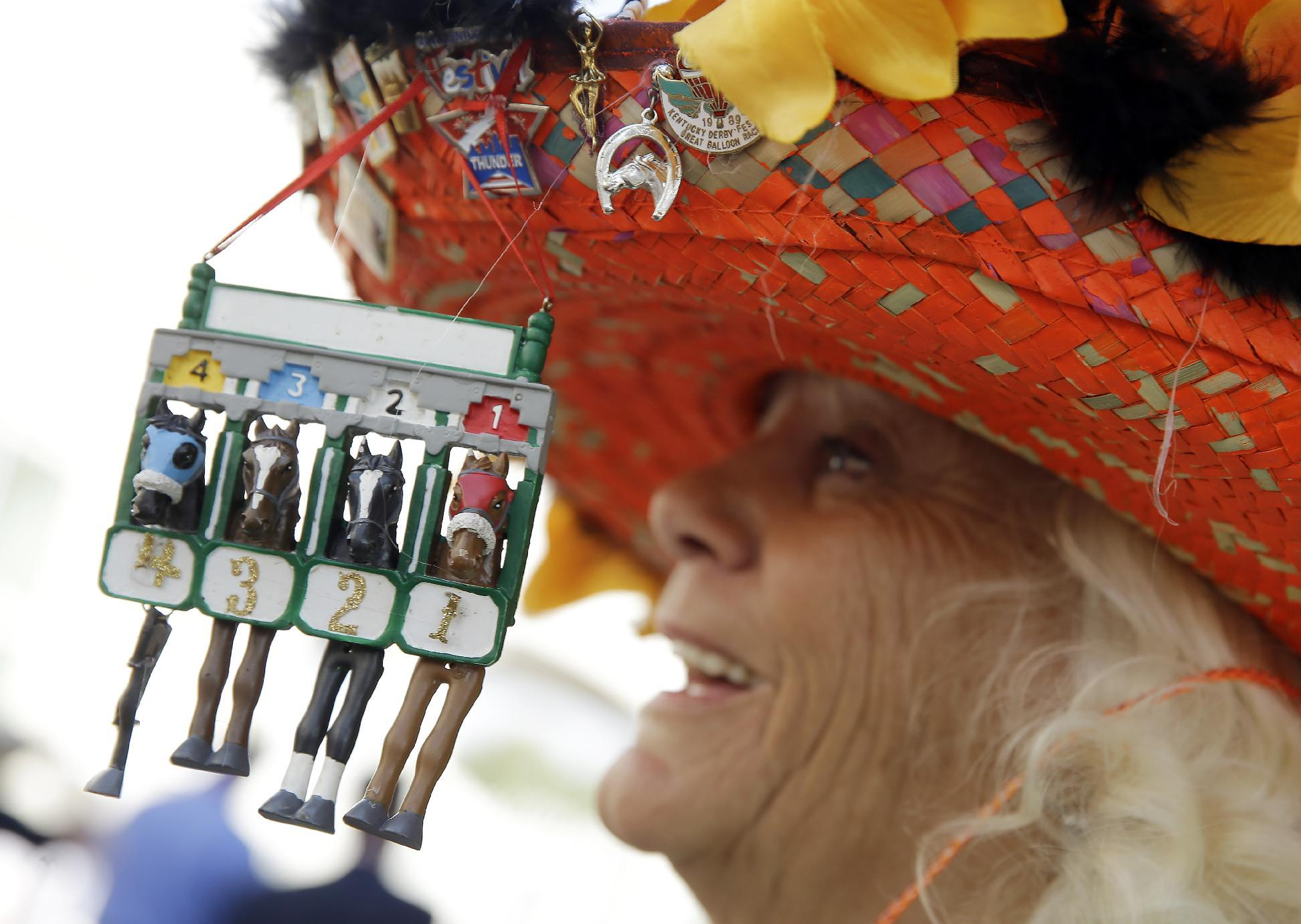 AP PHOTOS: At Derby, a passion for hats