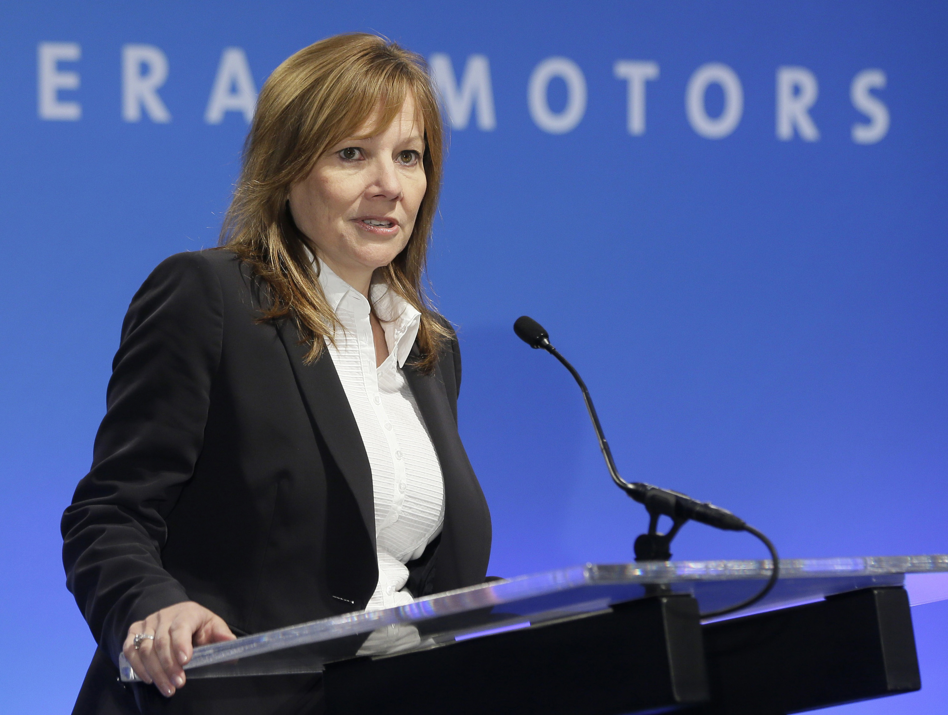 Barra: 1st year as GM CEO marked by disappointment, progress (AP Photo/Carlos Osorio, File)