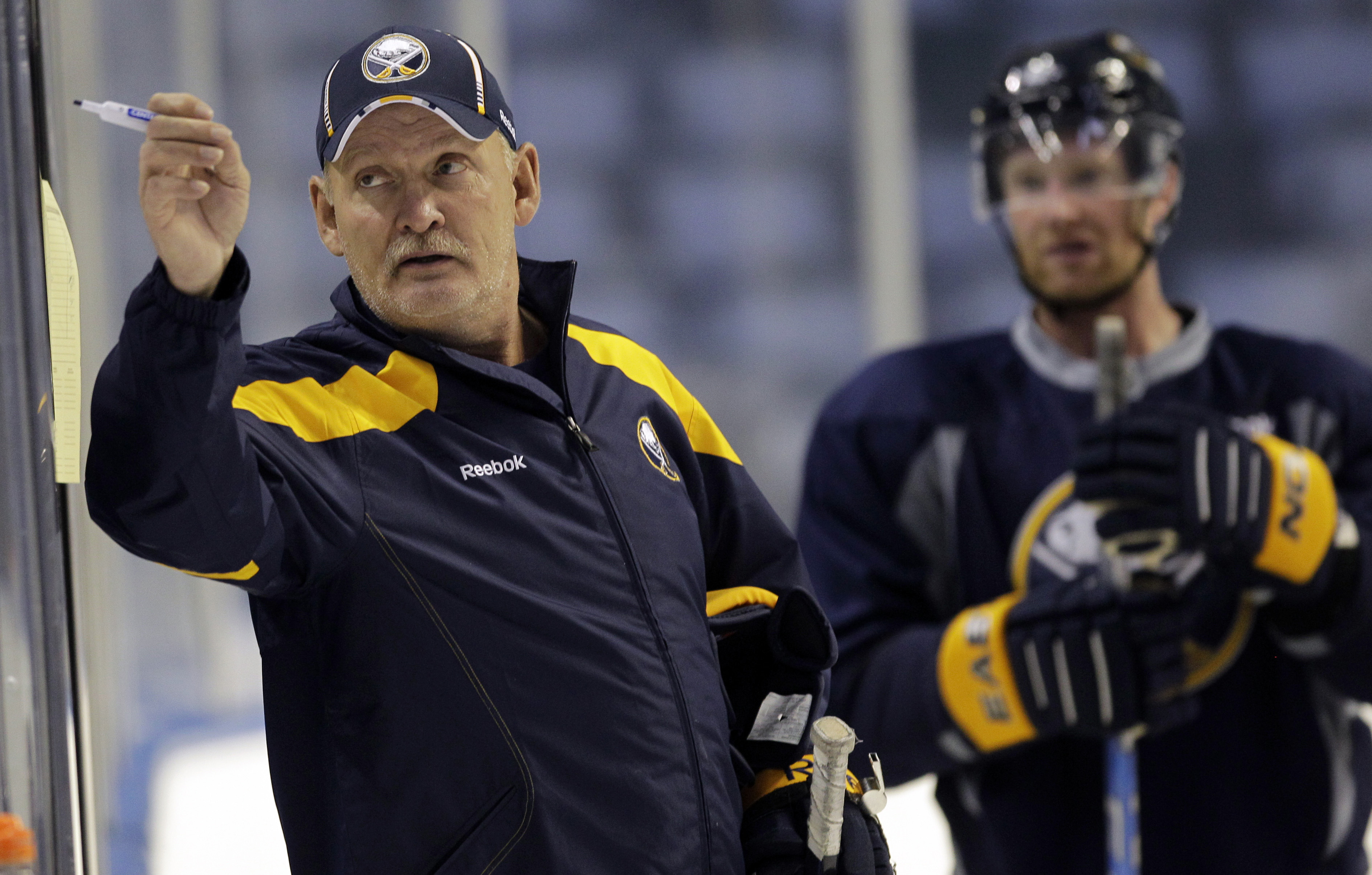 Lindy Ruff can pretty much return to the NHL coaching ranks whenever he wants. (AP)