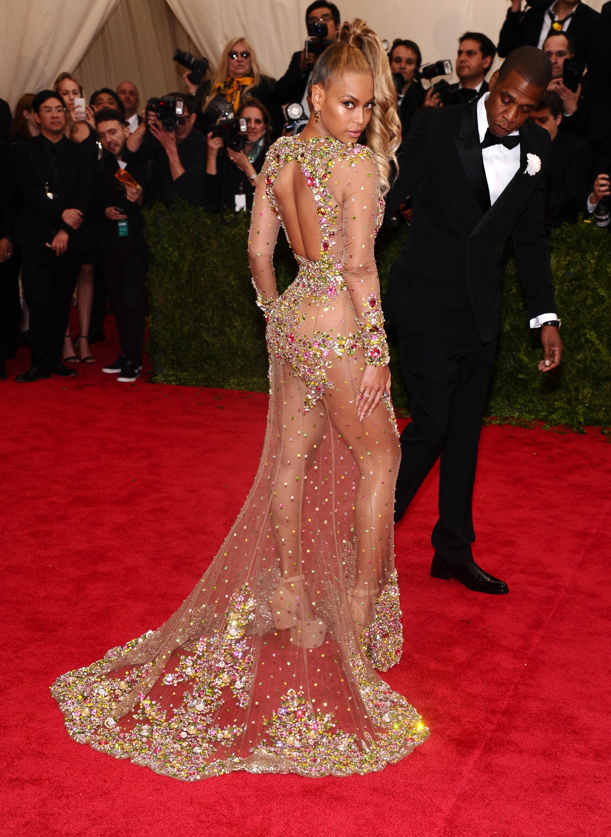 Beyonce shuts down the Met Gala in peekaboo Givenchy