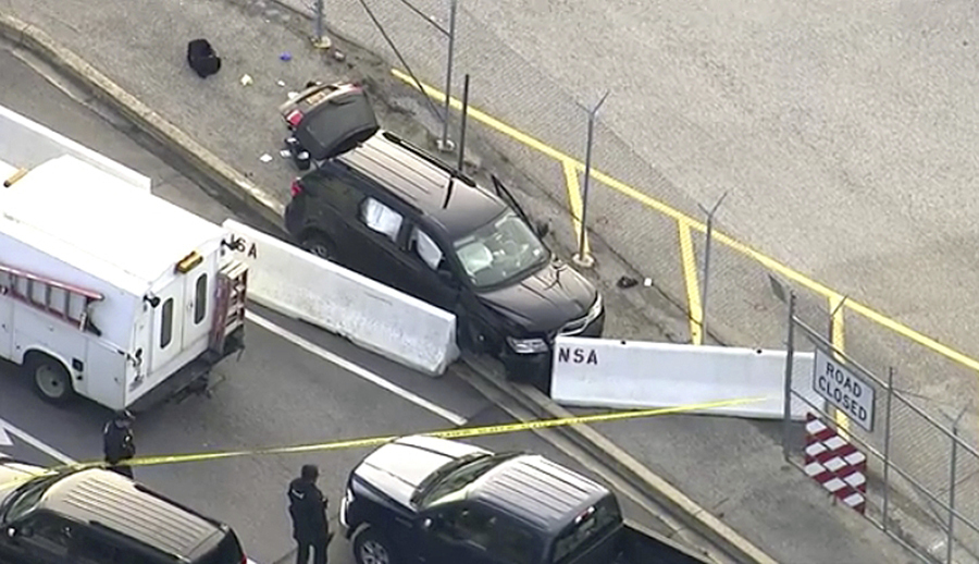 Passenger says teen driver panicked, hit the gas outside NSA