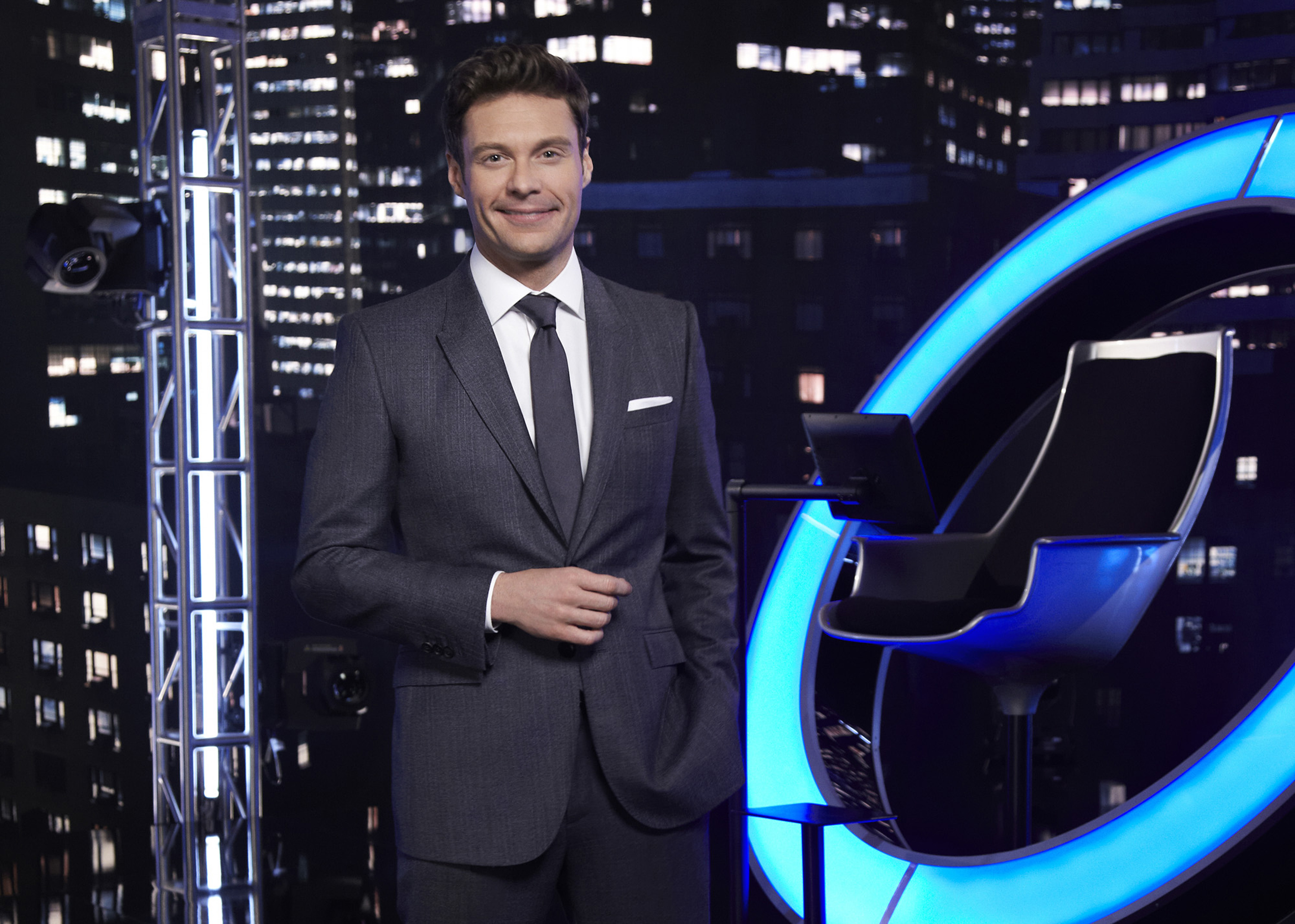 "Ryan Seacrest on the set of ""The Million Second Quiz"" (AP Photo/NBC, Rodolfo Martinez)"