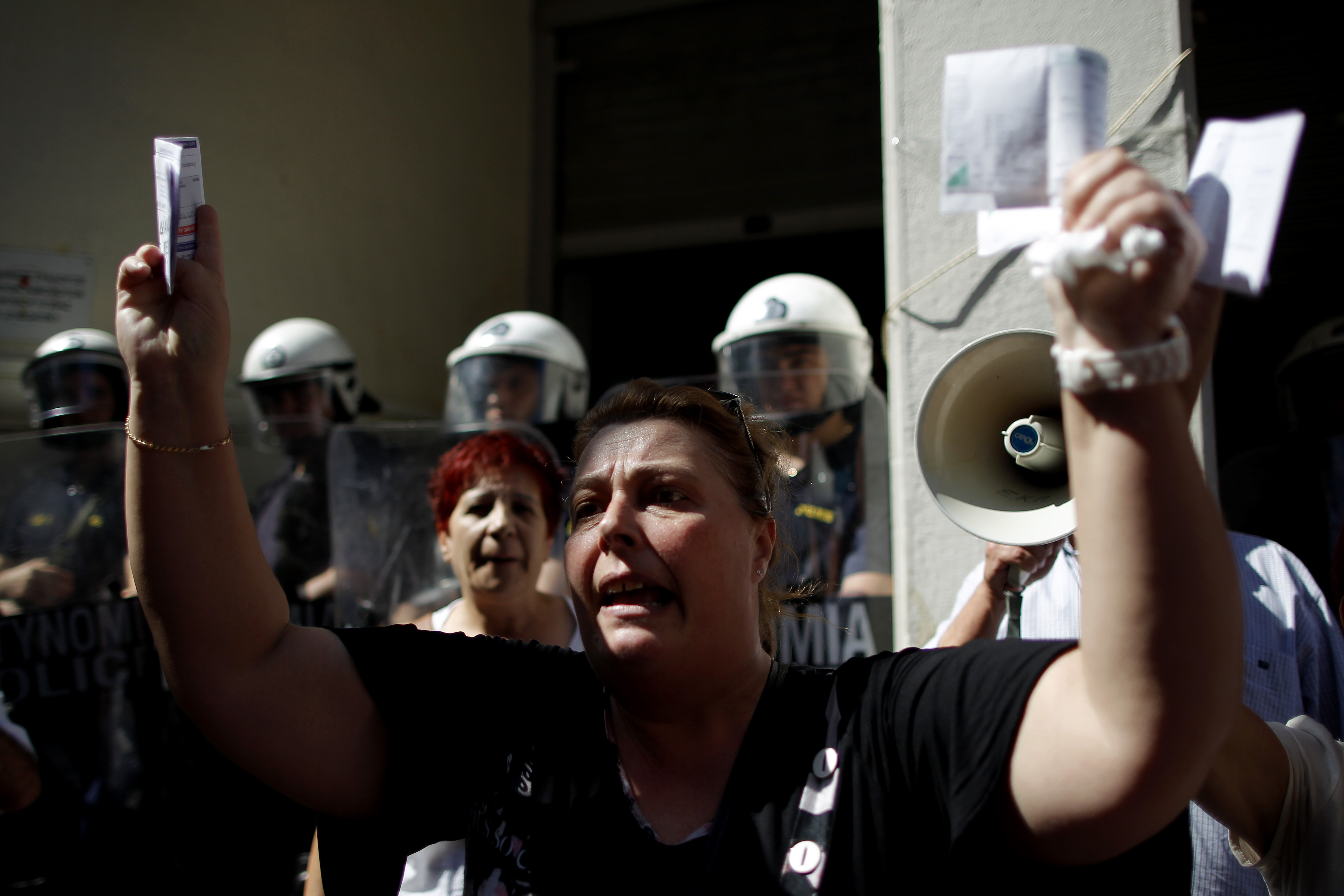 hit by crisis, greek society in free-fall