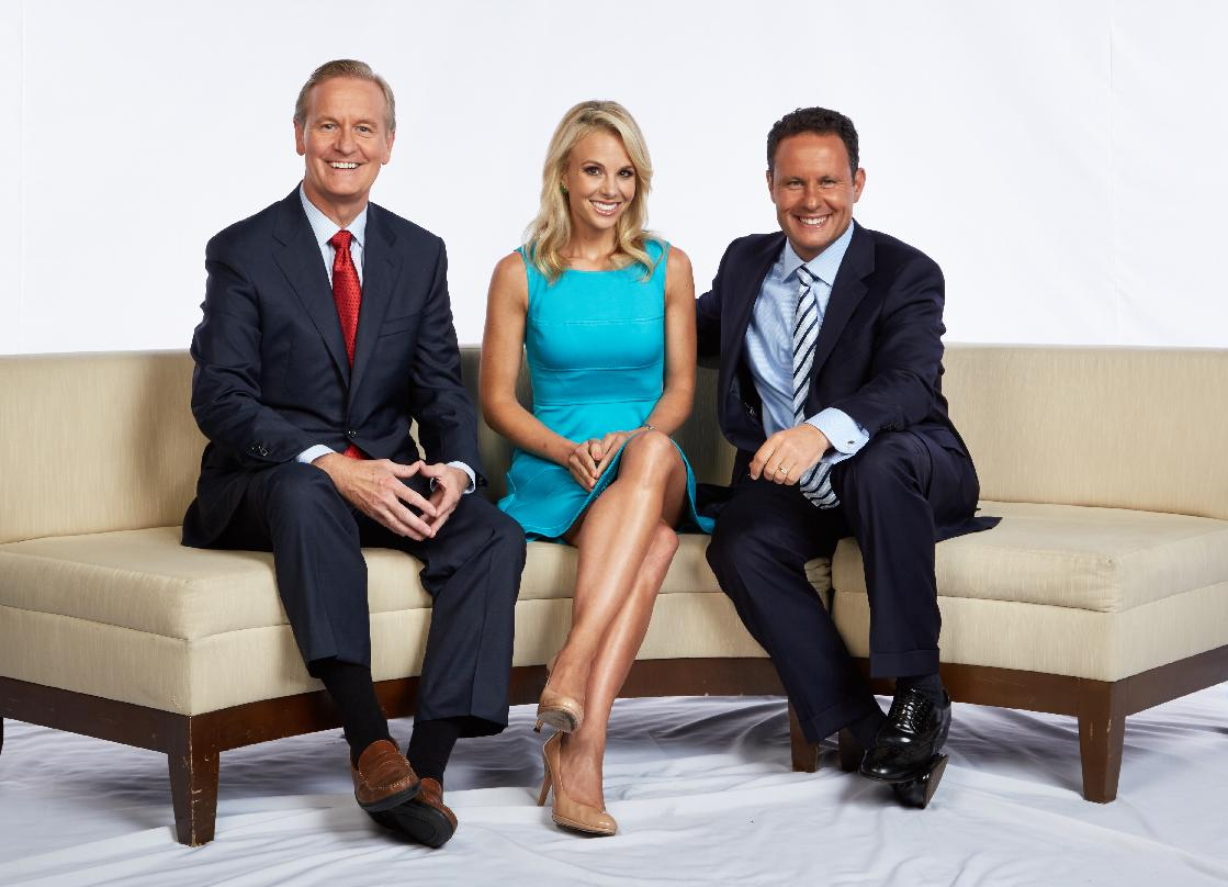"Steve Doocy, Elisabeth Hasselbeck, and Brian Kilmeade on ""Fox & Friends"""