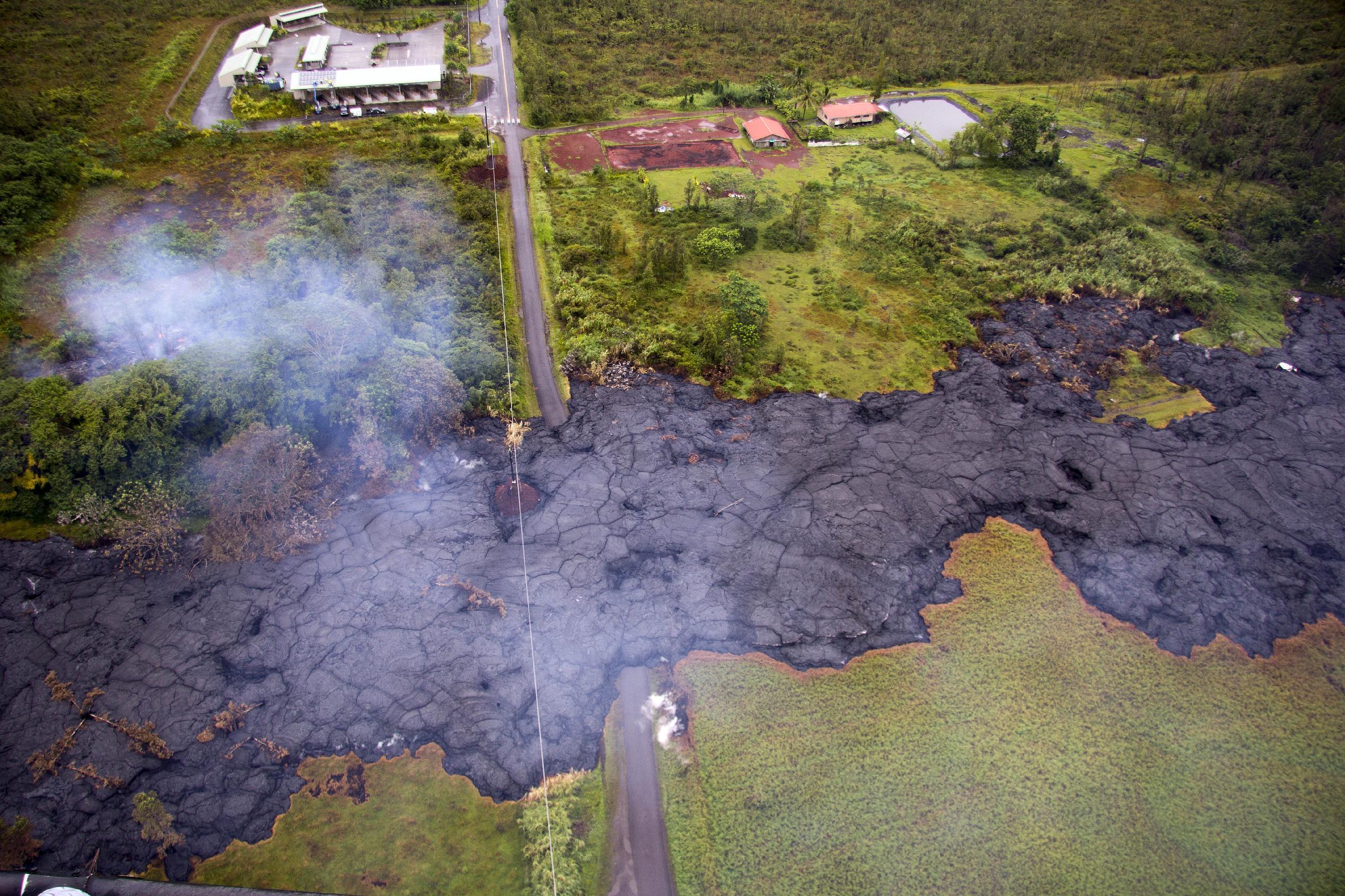 Hawaii's Big Island watches lava slowly reshape community