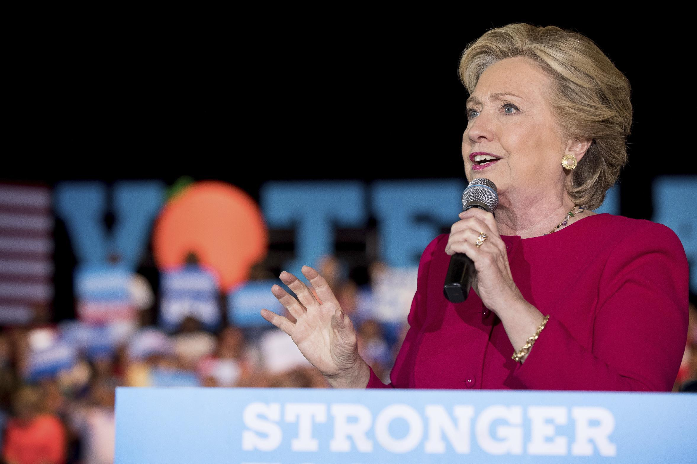 The Latest: Clinton picks up endorsement from UK's Adele