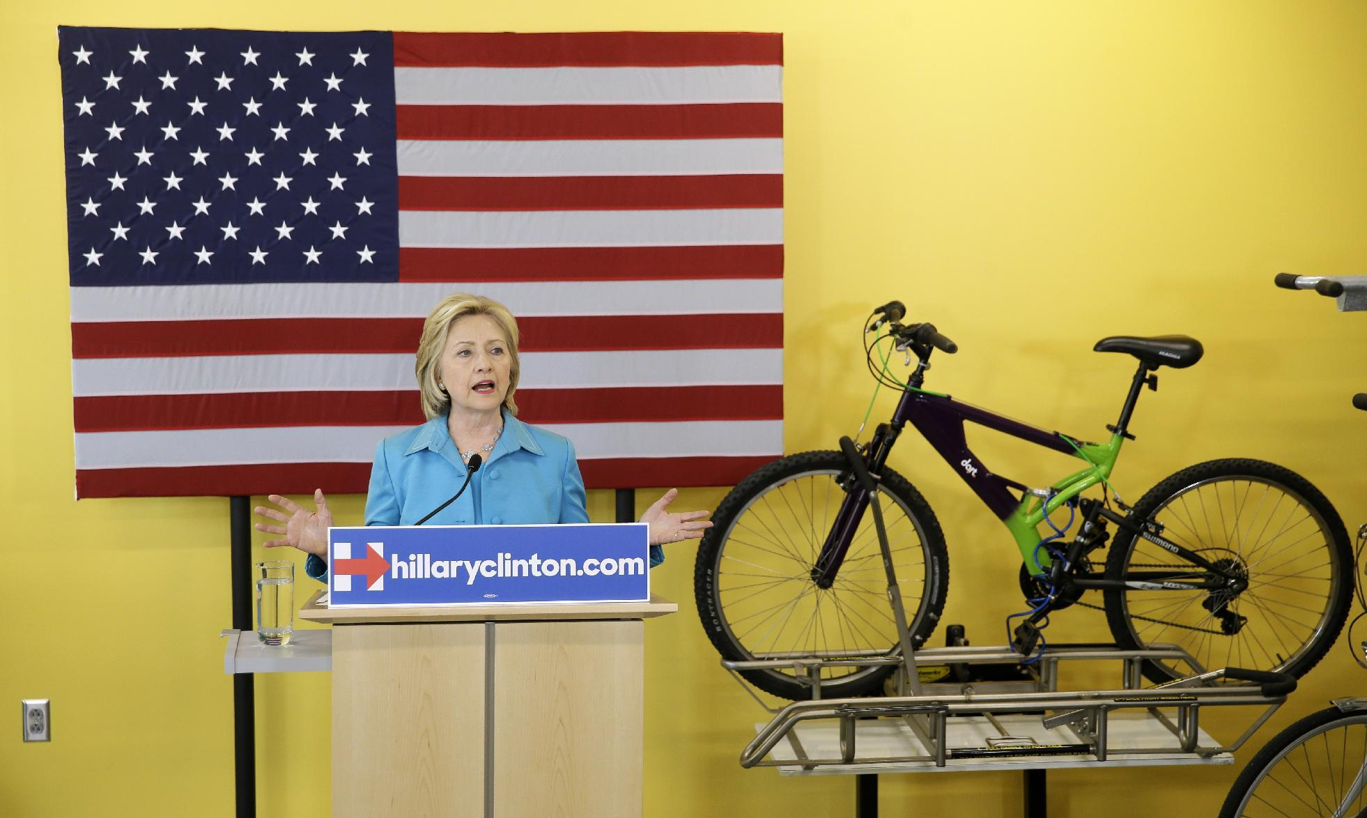 Clinton aims high in green energy plan