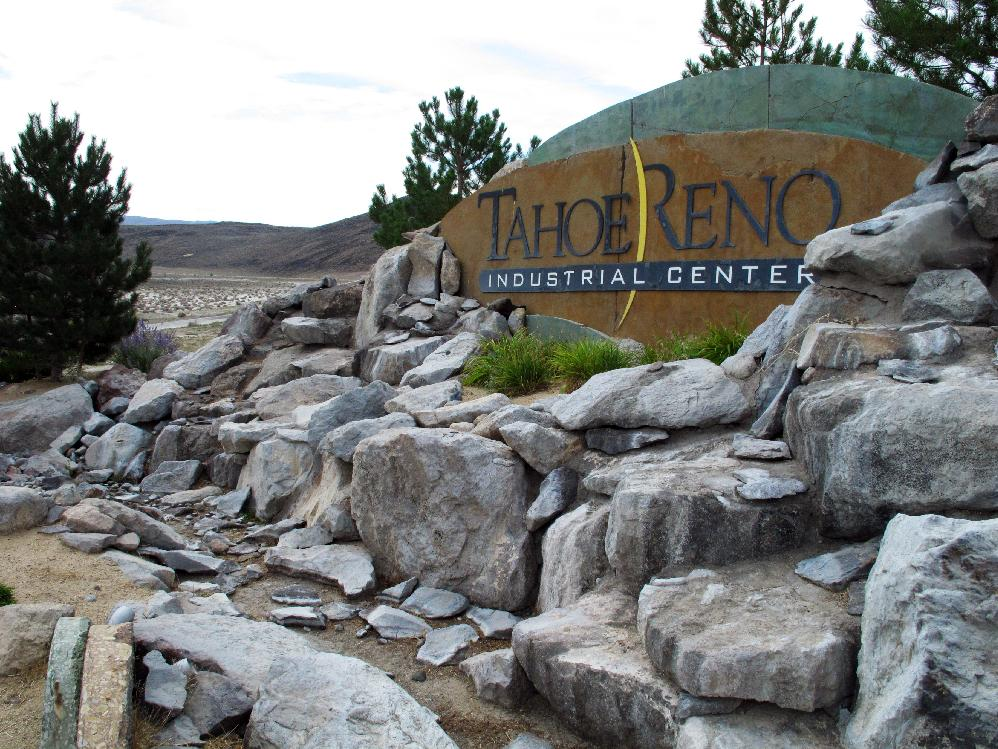 photo shows the Tahoe Reno Industrial Center in Sparks, Nev.