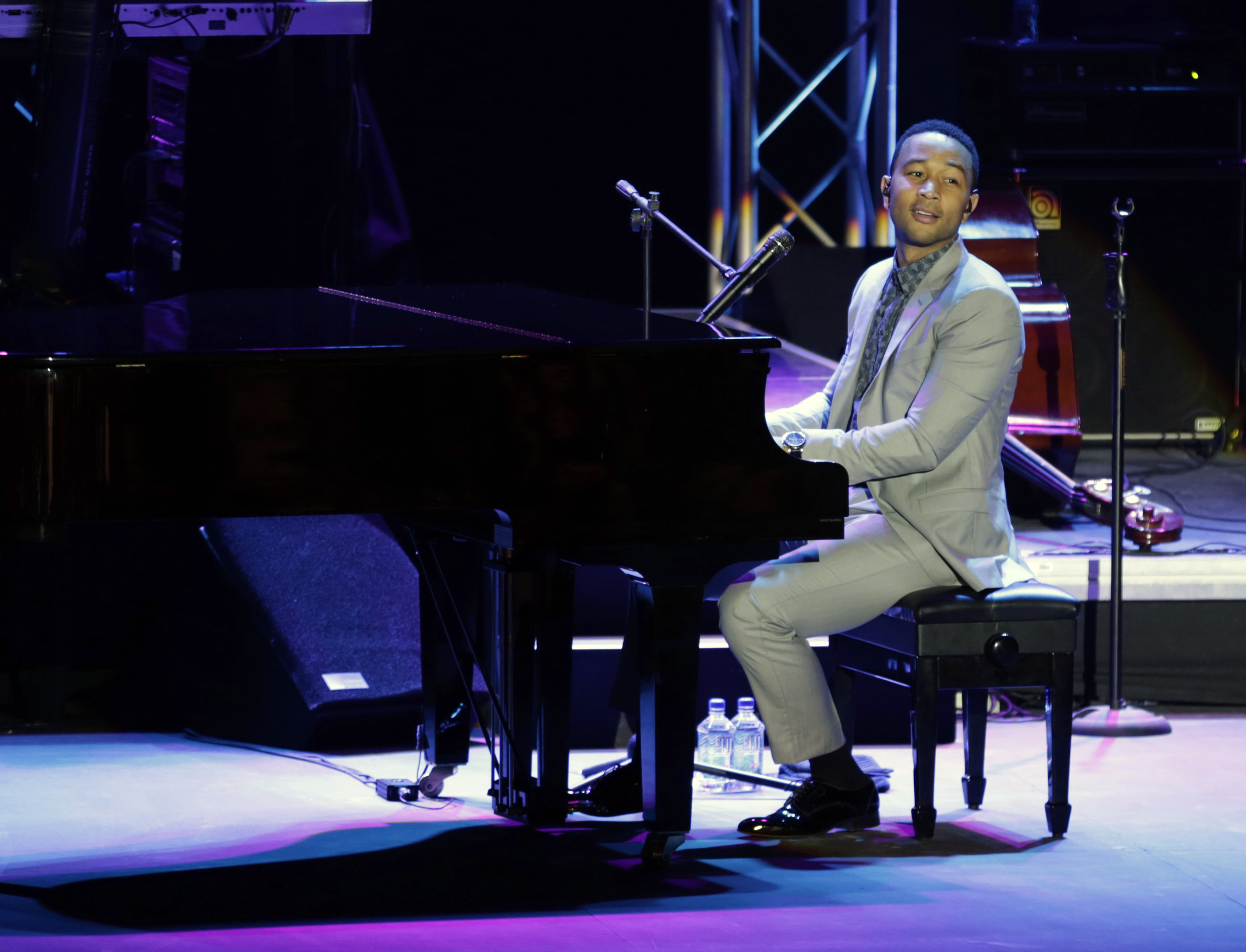 Singer John Legend talks about justice at Bahrain concert