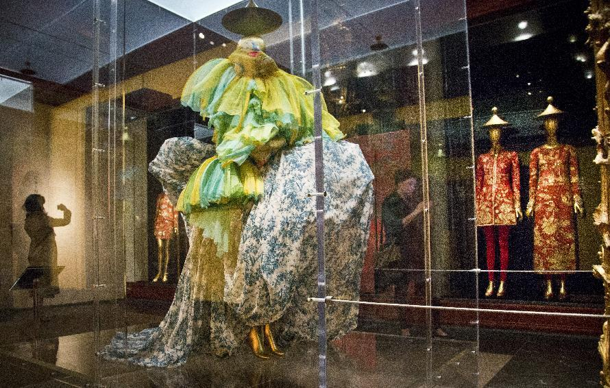 Met show uses film, fashion to explore East-West interplay