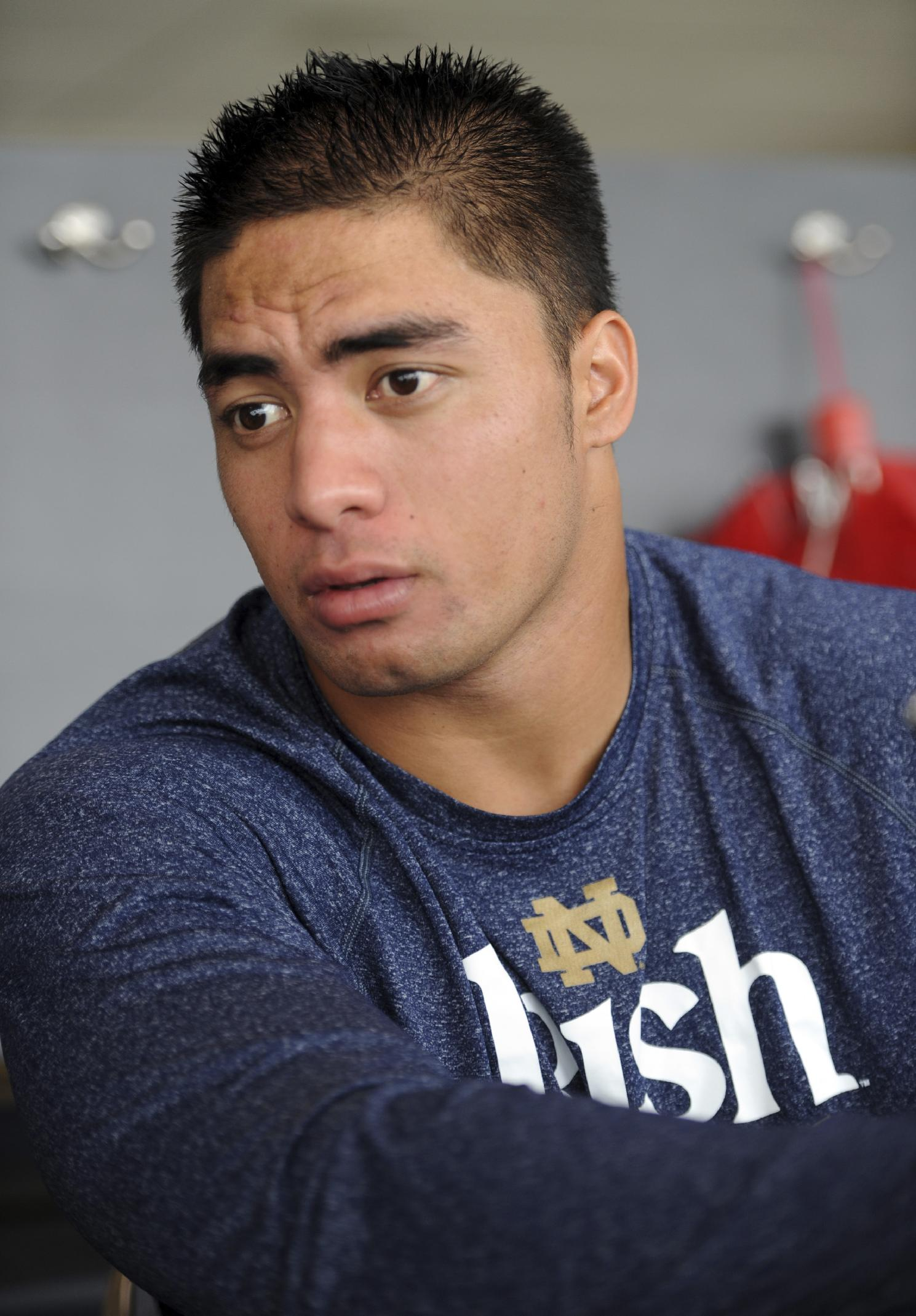 Manti Te'o denies being in on the girlfriend hoax. (AP)