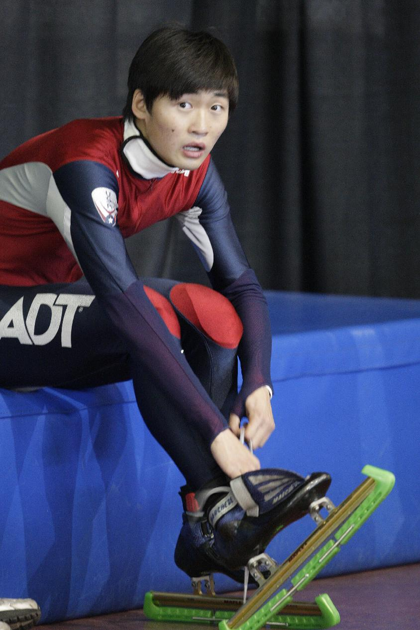 Simon Cho admitted he tampered with a Canadian rival's skates last year. (AP)