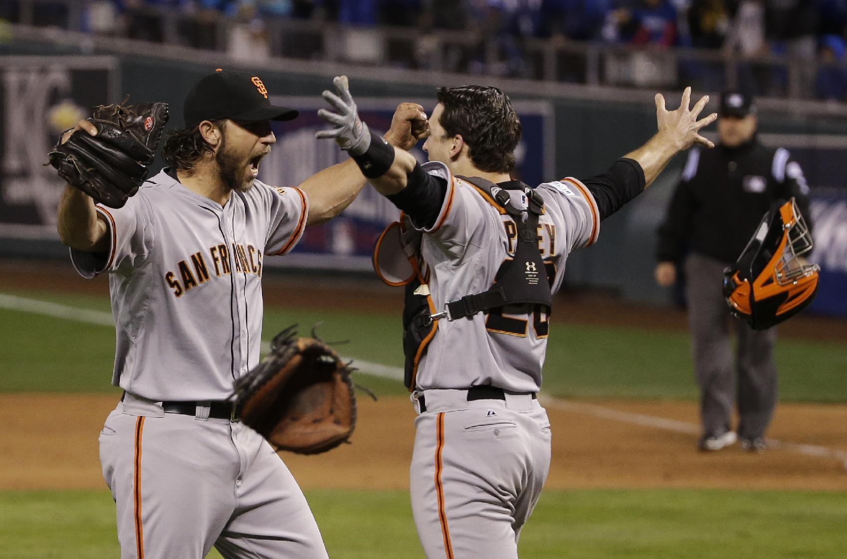 Giants win 3rd Series title in 5 years