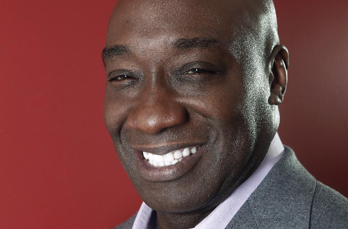 This Wednesday, Jan. 11, 2012 photo shows actor Michael Clarke Duncan in New York. Duncan has died at the age of 54, his fiancee said on Monday, Sept. 3, 2012. (AP Photo/Carlo Allegri)