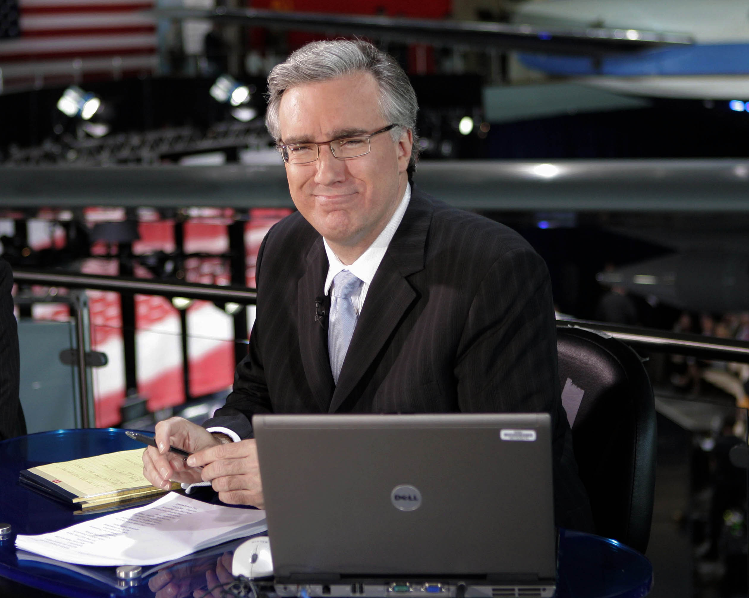 (AP Photo/Mark J. Terrill) Keith Olbermann poses at the Ronald Reagan Library in Simi Valley, Calif. Current TV has dismissed Keith Olbermann from its talk-show lineup after less than a year, Friday, March 30, 2012.