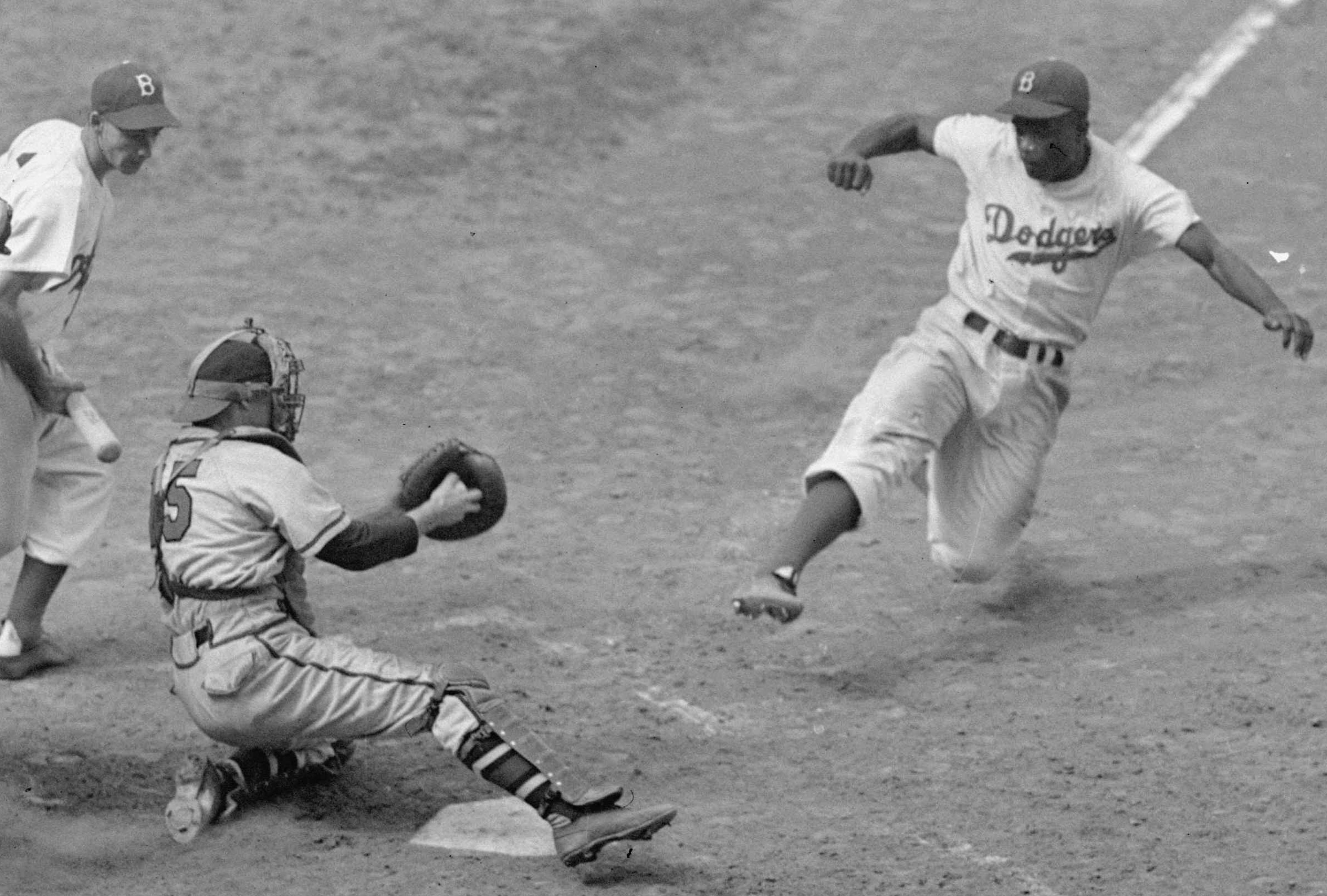 MLB collectively honors Jackie Robinson on Monday, the 66th anniversary of his major league debut. (AP)
