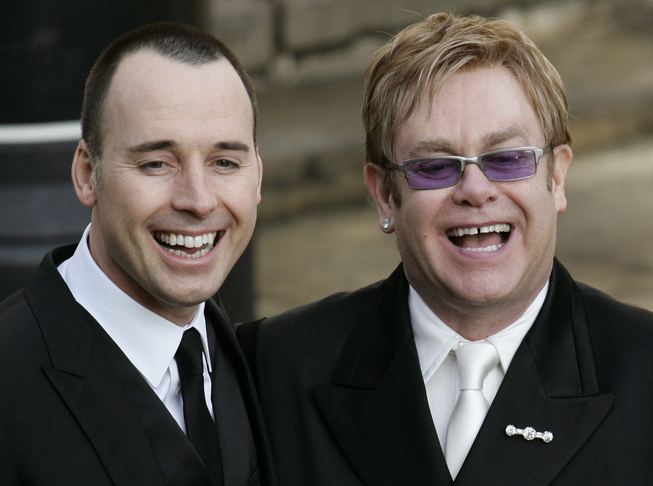 Happy day: Elton John, David Furnish marry in England